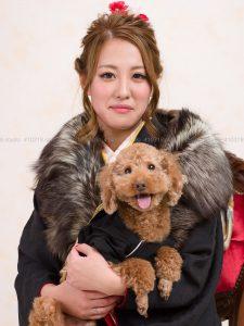 犬猫ペットご家族の写真撮影スタジオ/成人式当日撮影