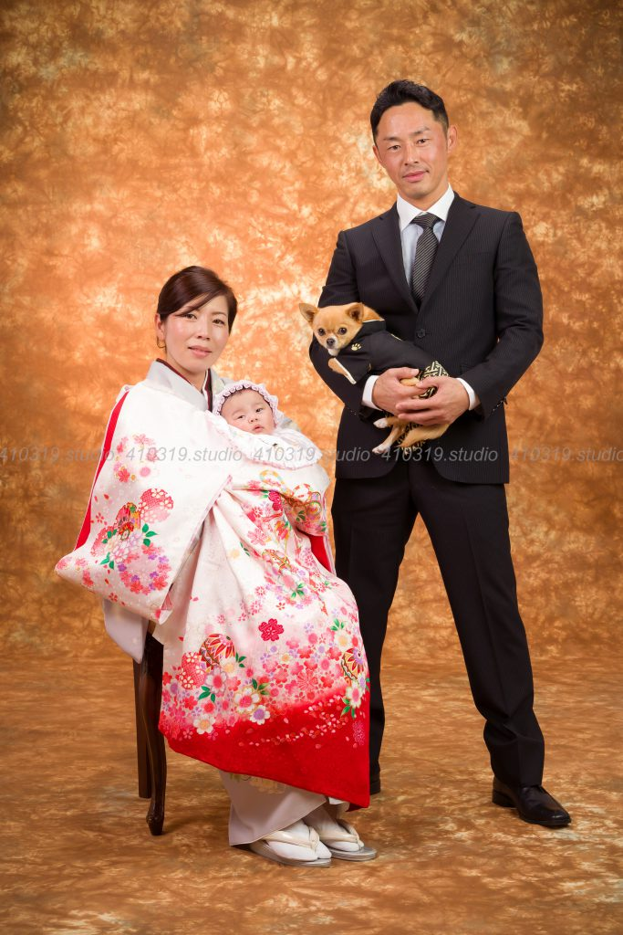 撮影スタジオの写真 ご家族 チワワ